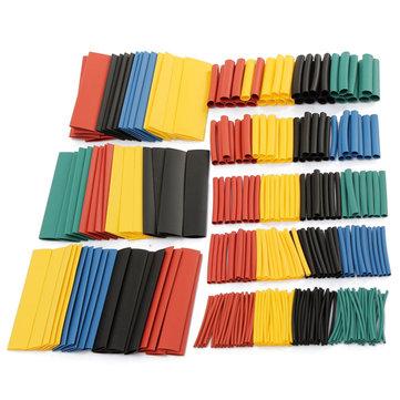 328 штук 2:1 полиолефиновые термоусадочные трубки 5 Цветов 8 размеров