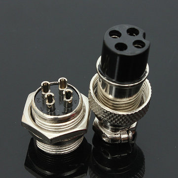 GX16-4 4-Pin 16mm Aviation Pug Male and Female Panel Metal Connector