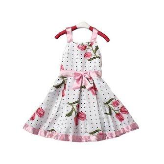 लड़कियों बच्चे Tutu राजकुमारी आस्तीन ड्रेस रिबन बो पुष्प पोशाक