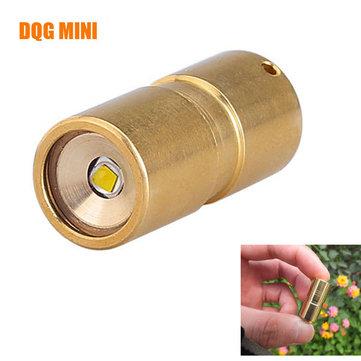 DQG Fairy Lanterna de latão XP-G2 R5 10180 Mini LED com frascos de tritio