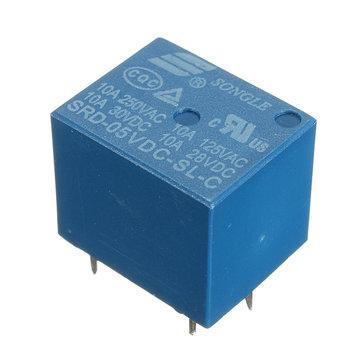 Mini 5V Rơ le nguồn DC SRD-5VDC-SL-C Loại PCB 5 chân