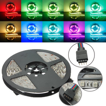 5M RGB Non-Waterproof 300 LED SMD5050 LED Strip Light for Indoor Home Decoration DC12V