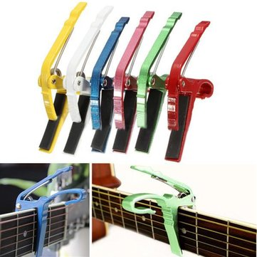 Electric Acoustic Guitar Capo Quick Change Trigger Key Clamp