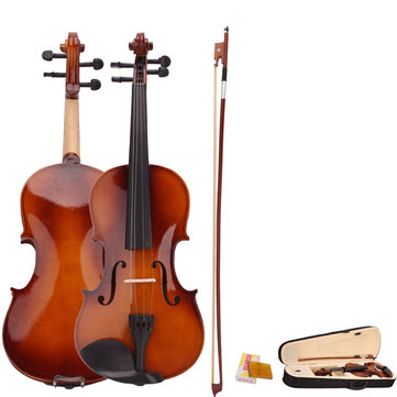 4 or 4 Acoustic Violin with Case Bow Rosin for Violin Beginner