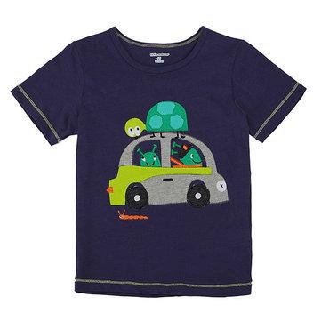 2015 नई लिटिल मेवेन लवली कार बेबी चिल्ड्रेन बॉय कपास लघु आस्तीन टी शर्ट टॉप