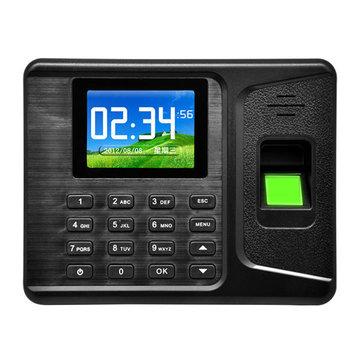Realand A-E260 2.8 inch LCD Biometric Fingerprint Time Clock Attendance Machine Employee Check Fingerprint Reader