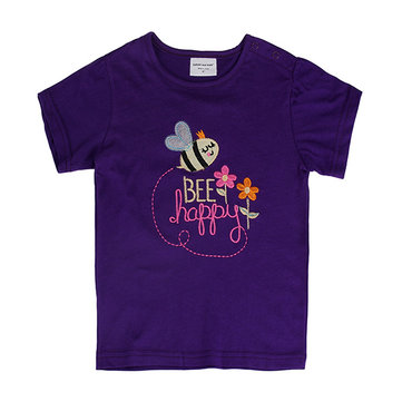 How can I buy Summer Baby Girl Children Bee Purple Cotton Short Sleeve T shirt with Bitcoin