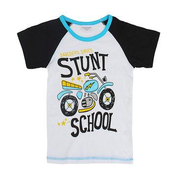 2015 Ny härlig motorcykel barn barn pojke ren bomull kortärmad T-shirt topp
