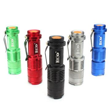 MECO Q5 500LM Multicolor Zoomable Mini LED Lintera 14500/AA