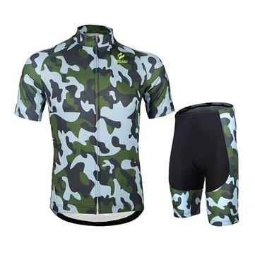 El arsuxeo mens bicicleta de la bicicleta de montaña del jersey que va en bicicleta mangas cortas pone camisas con el 3er rellenado