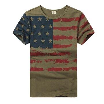 युद्धक्षेत्र प्रशंसकों ग्रीष्मकालीन कैमो सैन्य ध्वज पुरुषों आउटडोर प्रेमी लघु आस्तीन टी शर्ट