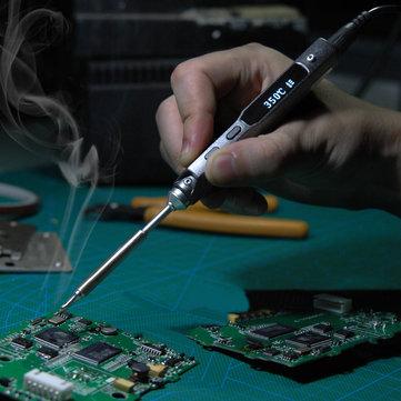 MINI TS100 Digital OLED Programável Interface DC5525 Estação de Ferro Solda Chip STM32 Incorporado