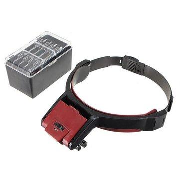 Съемная 4 стеклянная Объектив 3,5-кратная головка петли Стандарты VISOR Светодиодный увеличительное
